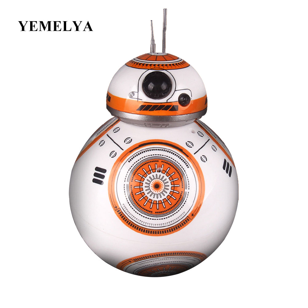 Movie toys Star Wars RC BB-8 Robot Star Wars 2.4G remote control BB8 robot Action Figure Robot Intelligent Ball kid gift boy toy robot classic toys 360 degree rotation toy detective robot action figure toy deformation robot remote control toy for child gift