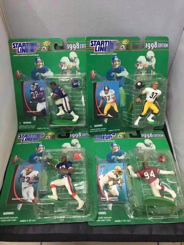 16pcs/set Original Mcfarlane 1998 Edition Old Goods 10cm Rugby football Players Action Figure Collectible PVC Model Toy In Box