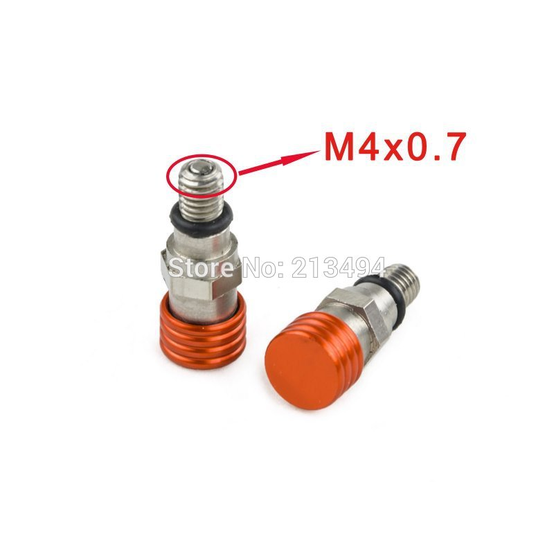 Воздушная вилка Спускного клапанов для KTM SX мини 50/65/85/105/125/144/150/200/250/300/350/450/520/690/950/990 ЗХ ХС по монтажу, М4х0.7мм оранжевый
