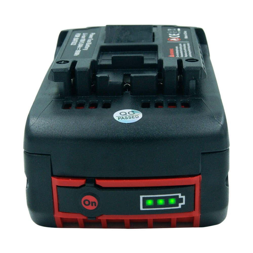 18 V Lithium-ionen 5000 mAh Werkzeug Akku für Bosch BAT609 BAT618 2607336169 BAT618G BAT609 mit Licht