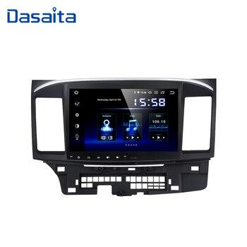 """Dasaita Android 9.0 samochodowe Stereo DSP 10.2 """"ekran dotykowy dla Mitsubishi Lancer 10 EVO Radio 1 Din 64G ROM 4G RAM samochodowy Bluetooth"""