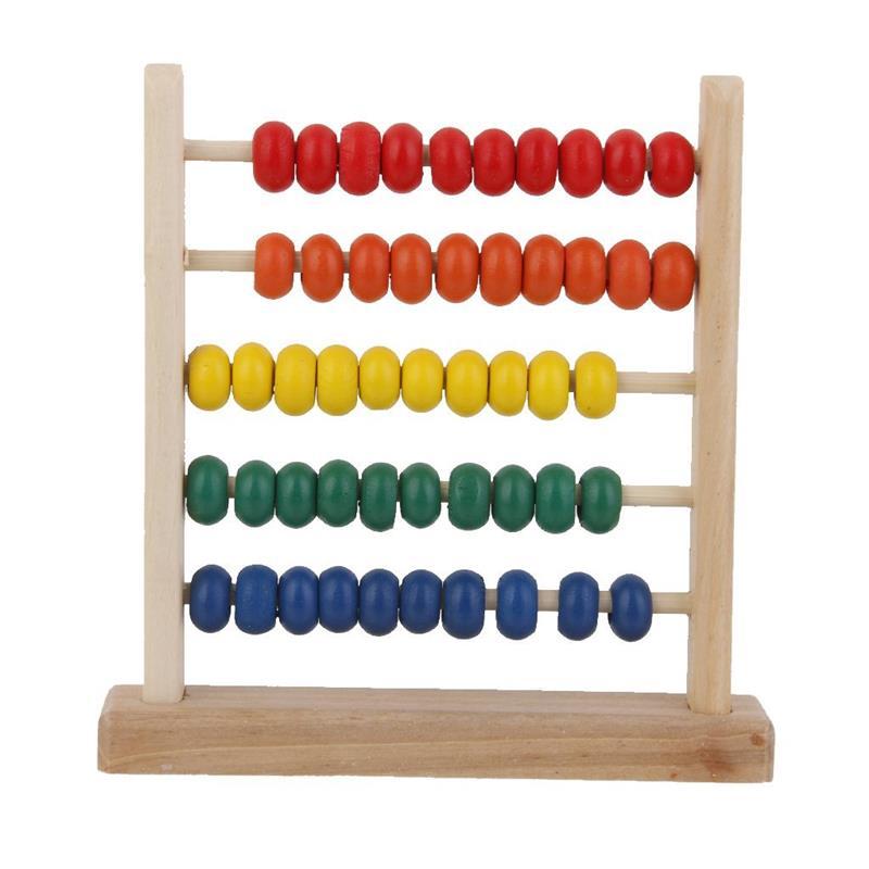Математика манипулятивы Детские деревянные игрушки небольшой счеты ручной работы образования детей раннего обучения детей математике игр...