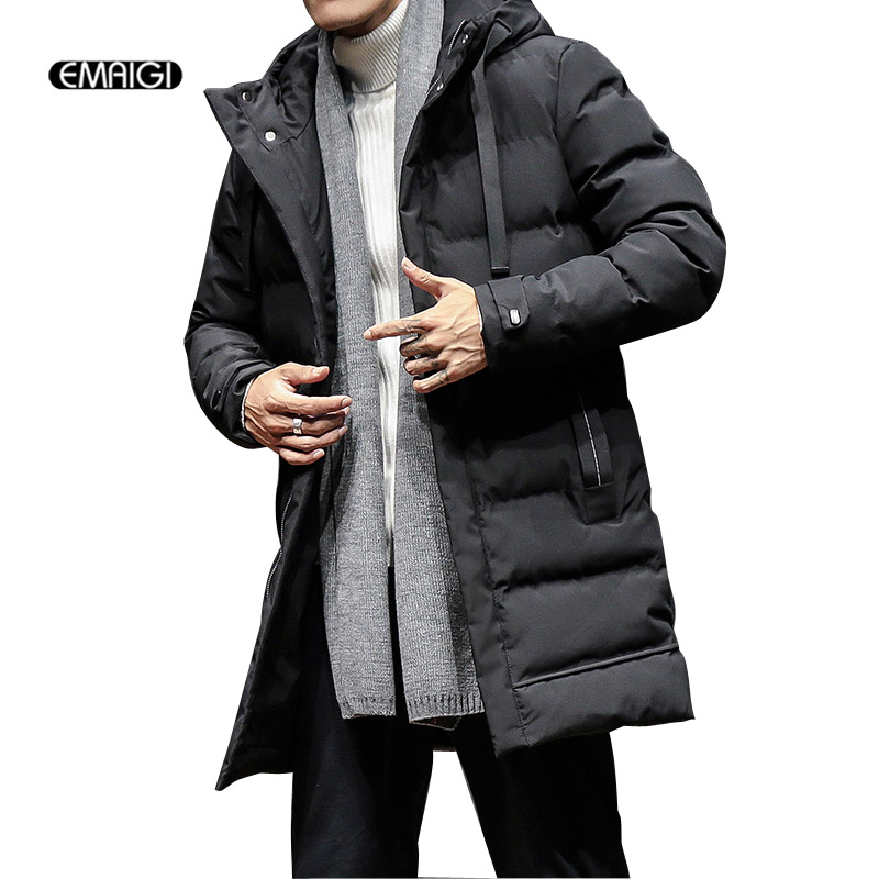 Men Winter Cotton Padded Long Parkas Jacket Male Fashion Casual Thick Warm Hooded Coat philips 40pft4100
