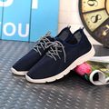 2016 Summer Europe NEW fashion Tide Men Mesh Casual Shoes Blue Black Hollow Breathable Sewing Elastic band Lacing Trifle Shoes