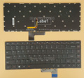 Nuevo teclado para lenovo ideapad yoga 3 14 laptop ee.uu. idioma negro con teclado retroiluminado no frame