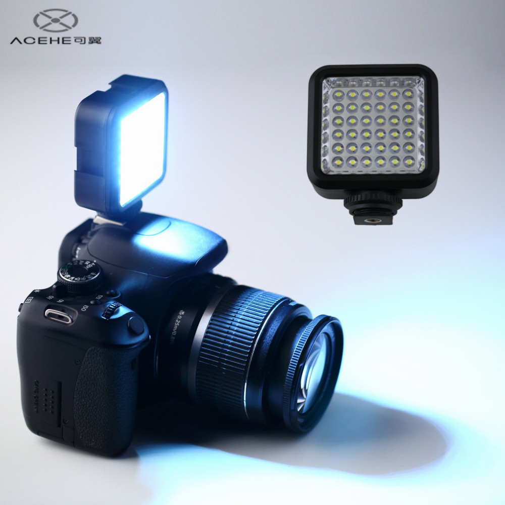 ACEHE W36 36 LED Video Light Camera Lamp Light Photo Lighting for Cannon for Nikon for Sony for Panasonic Camera Camcorder HOT