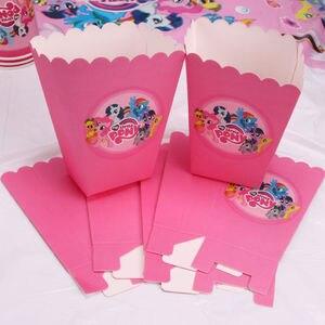 Image 3 - Опциональное украшение для Маленького Пони, сувениры для вечерние Ринок, тарелки, вилки, товары для детского дня рождения, наборы одноразовой посуды
