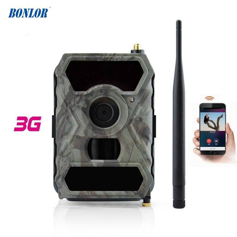 3G mobilsporekamera med 12MP HD-billedbilleder & 1080P billedvideooptagelse med gratis APP-fjernbetjening IP54 vandtæt