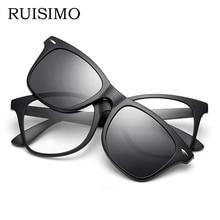 Magnet Clip on Sunglasses clip on glasses square Lens Men Women mirror clip Sun Glasses Night Vision Driving sunglasses for men