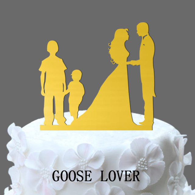 Online Shop Bride Groom 2 Boys Family Theme Wedding Cakes Topper ...