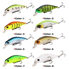 1PCS Fishing Lure Minnow Crankbait 3D Hard Bait Tight Wobble Slow sinking Jerkbait Fishing Tackle Free Shipping wlure 5 3g 8 3cm slim minnow lure very tight wobble slow sinking 2 6 treble hooks epoxy coating fishing lure m662
