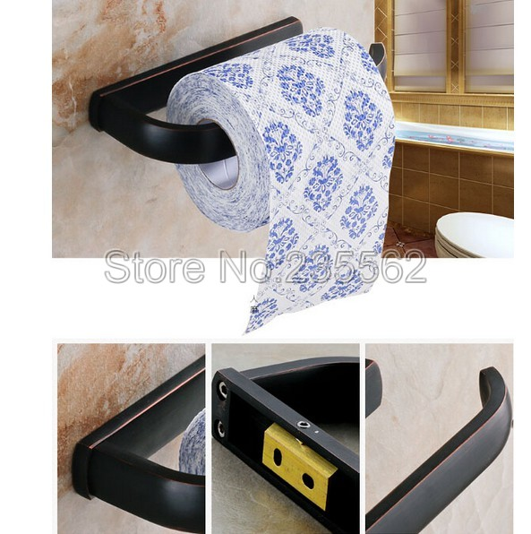 Wall Mounted Black Oil Rubbed Bronze Bathroom Accessory Toilet Paper Holder  Roll Holder Lba193