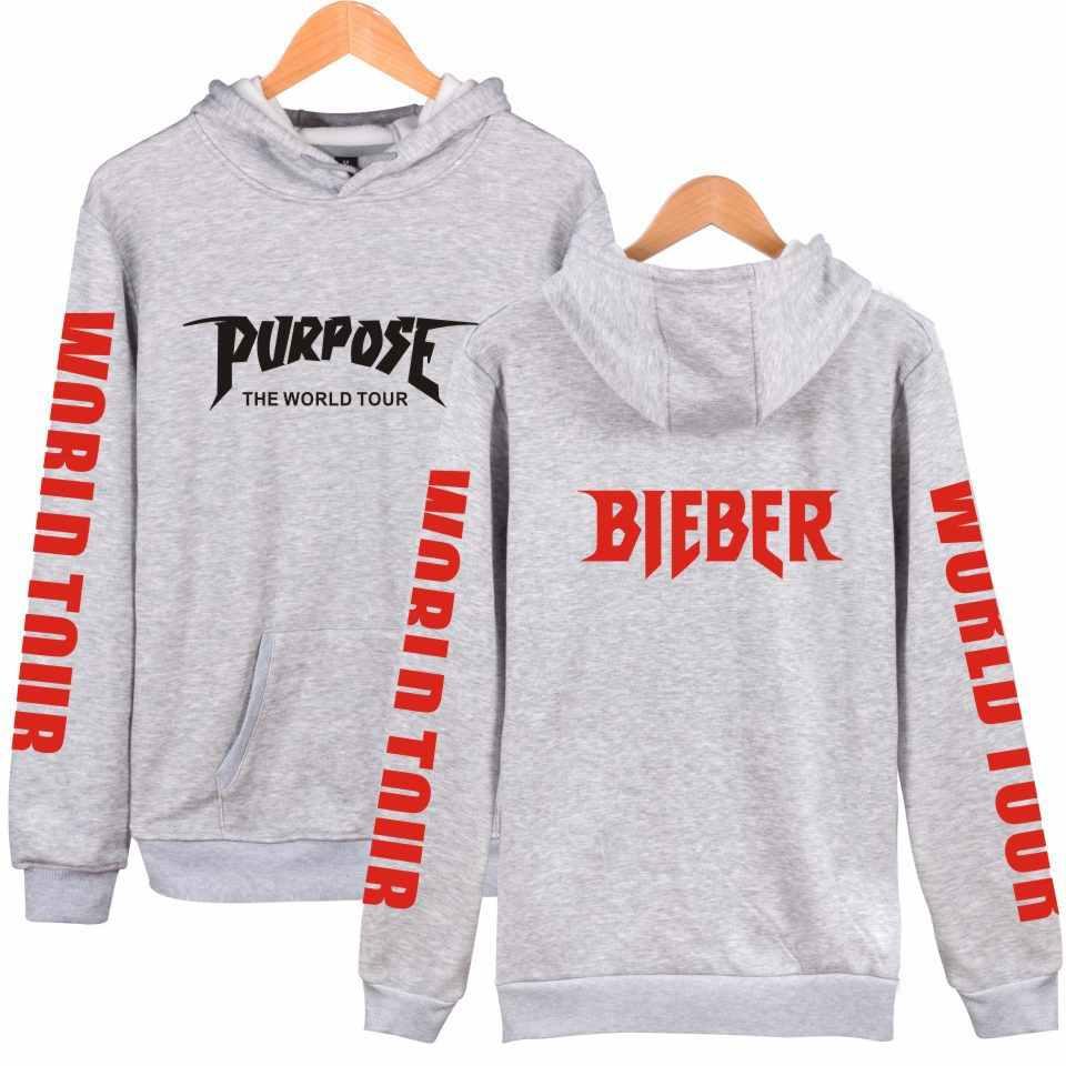Justin Bieber Kleding Purpose Tour Hoodies Mannen Vrouwen Mode Hoody 2019 Hip Hop Sweatshirt Zomer Stijl Hoge Kwaliteit Regelmatige