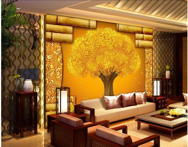 Benutzerdefinierte 3d Tapete Badezimmer 3d Wallpaper Wandbild Baum  Hintergrund Wandbild 3d Wallpaper Fototapete Für Wände