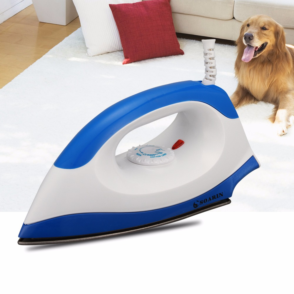 1000W Electric Dry Iron Blue/Pink Irons 220 V Portable Wire Teflon Non-stick Baseplate With Adjusted Temperature Household fashion household electric vertical clothes steamer irons for ironing teflon non stick baseplate temperature control iron z30