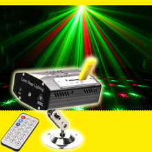 USB Disk Music MP3 Mini Stage Lights with Remote Control Sound KTV Party Laser Projector Lighting Disco for Chrsitmas Brithday