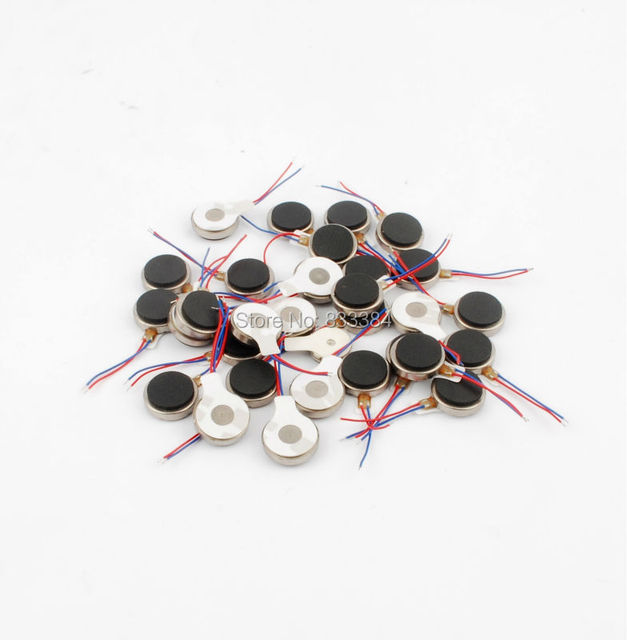 Wholesale 20pcs 10X2.5mm DC 3.7V Coin Vibration Motor  Micro Motor brushless vibration motor built-in circuit twisted buckle
