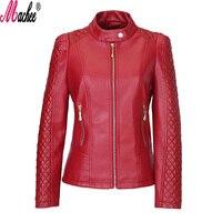 2017 Brand New Spring Autumn Fashion Outerwear Slim Loose Plus Size Long Sleeve Zipper Women Motorcycle