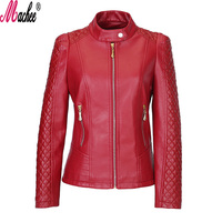 2017 Brand New Spring Autumn Fashion Outerwear Slim Loose Plus Size Long Sleeve Zipper Women Motorcycle
