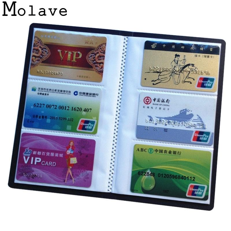 2017 Neue Ankunft 120 Blätter Pu Leder Männer Business Paket Kreditkarte Halter Frauen Bank Karte Fall Karte Box Apr20 SorgfäLtige FäRbeprozesse