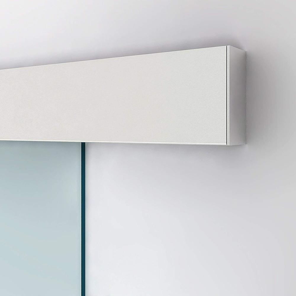 4.9FT/6FT/6.6FT Aluminium alloy frameless brushed glass shower sliding barn door hardware Track kit 2
