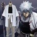 Shiroyasha Joui Guerra Demônio Branco Gintama Sakata Gintoki Cosplay Quimono Japonês Traje Cosplay Traje de Halloween para os homens S-XXL