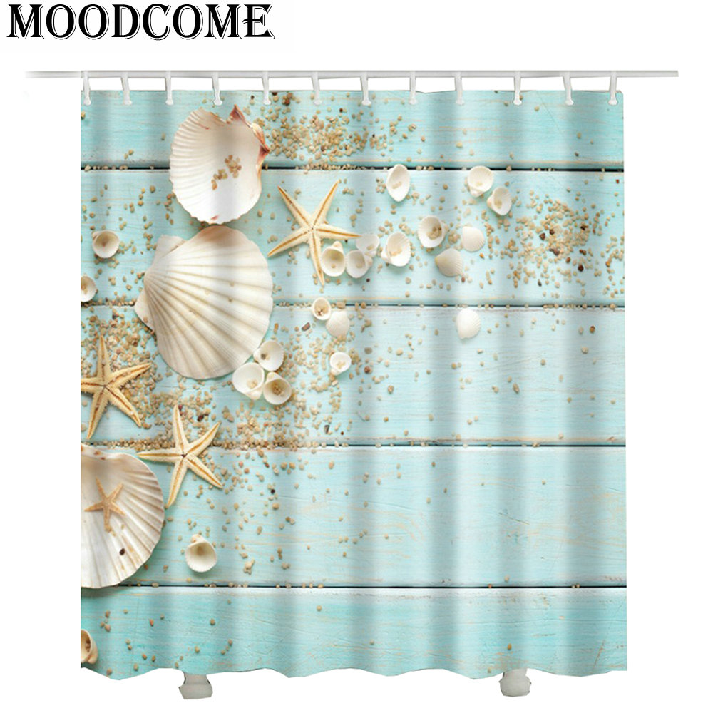 Rideau Douche Design Us 15 19 38 Off Vintage Wood Shower Curtain 2017 New Design Rideau Douche 3d Summer Bathroom Curtain Waterproof In Shower Curtains From Home