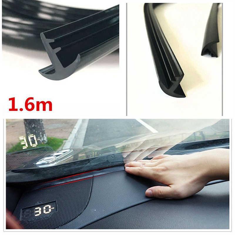 Guma 1.6m dźwiękoszczelna pyłoszczelna taśma uszczelniająca izolacja akustyczna do deski rozdzielczej samochodu szyby okulary Auto uszczelki akcesoria samochodowe