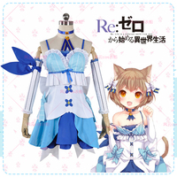 Re ZERO Starting Life in Another World Felix nyan nyan Argail cos cat dress cosplay costume Life in a different world from zero