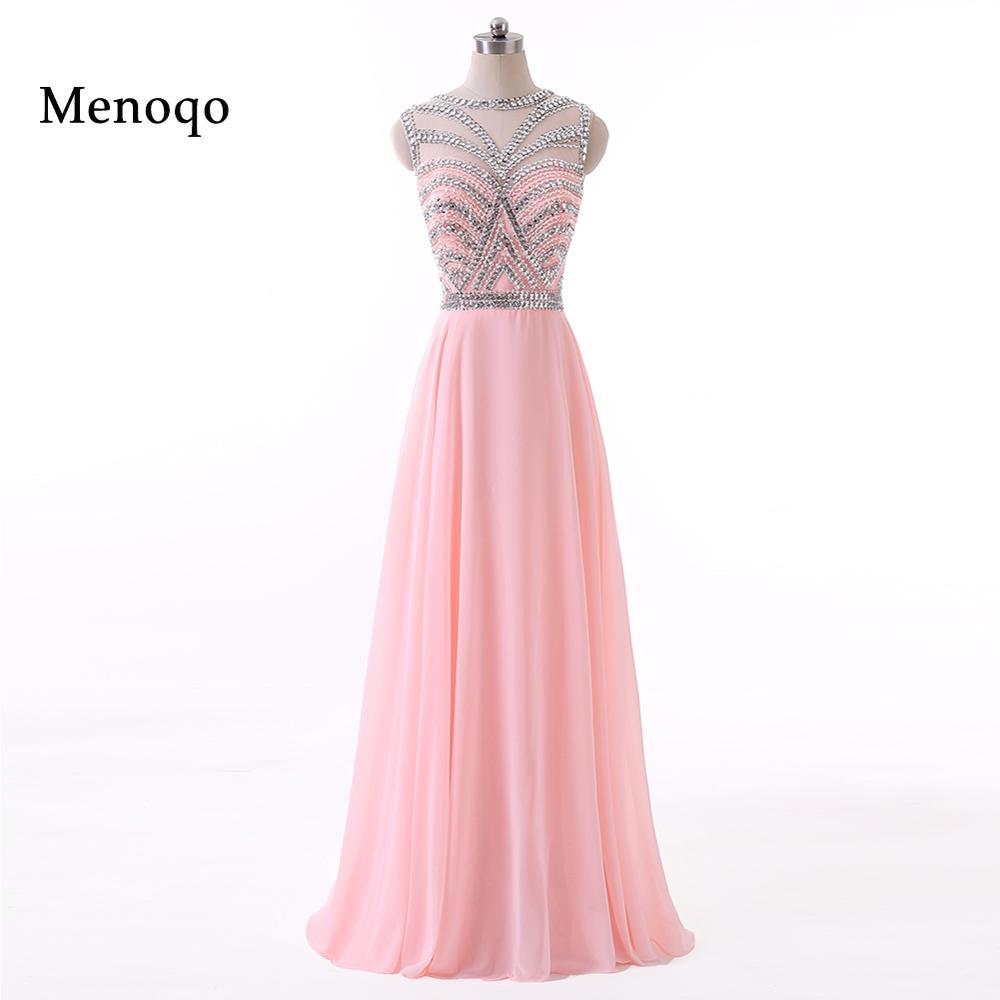 Menoqo Robe De Roiree New Long Vestidos Formal Gowns Elegant Floor Length Long Party Evening Dresses