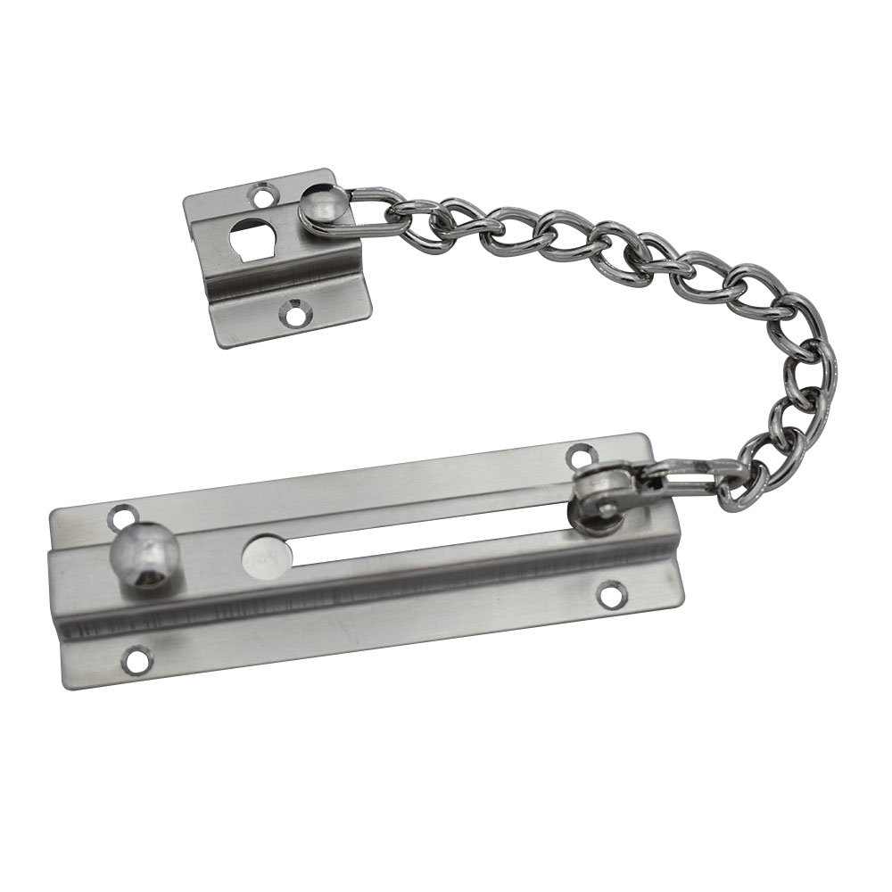 188mm Chain Length Stainless Steel Sliding Door Lock Chain Bolt Safety Chain Hotel Office Security Chain Gate Cabinet Latches