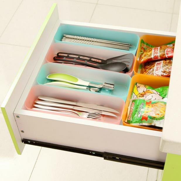 Japanese Style Multi-purpose Organize Drawer Storage Box Plastic Box Kitchen Tableware Sundries Storage Box Drawer Finishing Box
