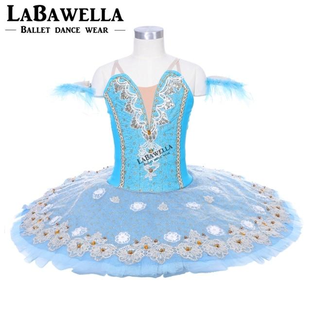 3fc6b33ead Pássaro azul Desempenho Ballet Saia Tutu BT9053 Profissional Tutus de Ballet  Clássico Azul Mulheres Figurinos de