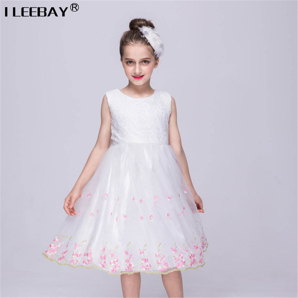 New Princess Lace Dress for Girl Children's Party Gown Baby Kids Wedding Dress Teenager Prom Gown Costume Big Girl Bow Vestidoes free shipping new red hot chinese style costume baby kid child girl cheongsam dress qipao ball gown princess girl veil dress