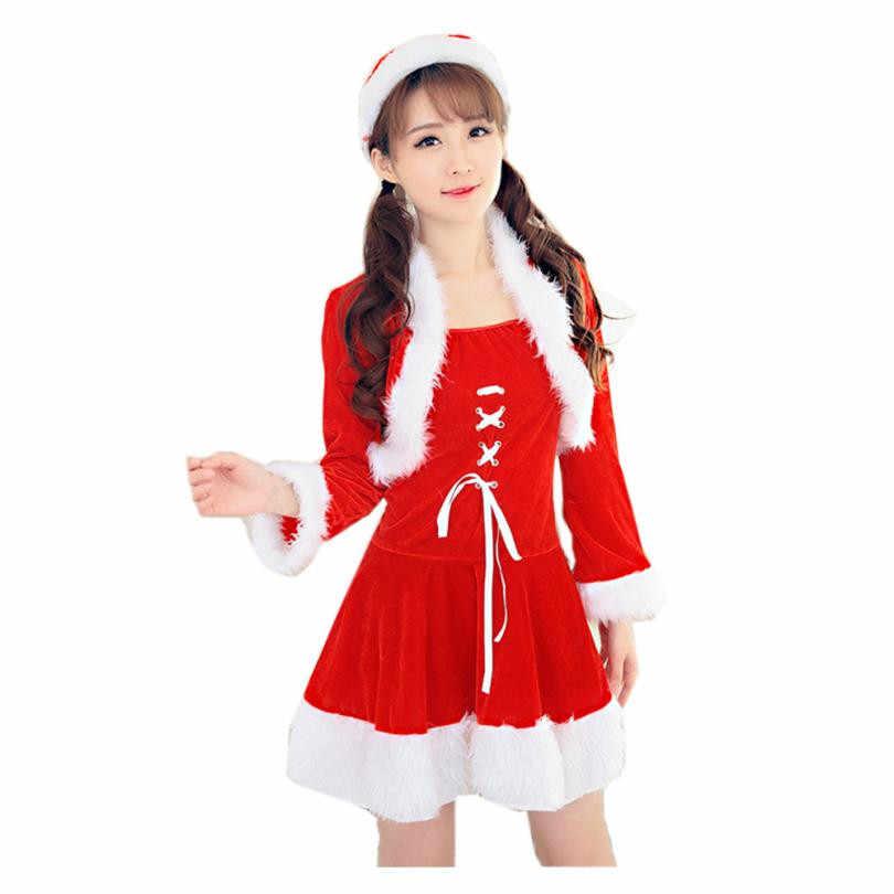 NewNew Develop Women Sexy Santa Christmas Costume Fancy Dress Xmas Office Party  Outfit winter dress vestido d62b87add529