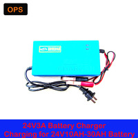 OPS Car Battery Lead Acid Battery Charger 24V 10AH 30AH For Electric Bike Bicyle Scooters DC100