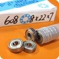 10 unids Skate 608ZZ 608Z Rodamiento Rodamiento Rígido de Bolas 8mm * 22mm * 7mm