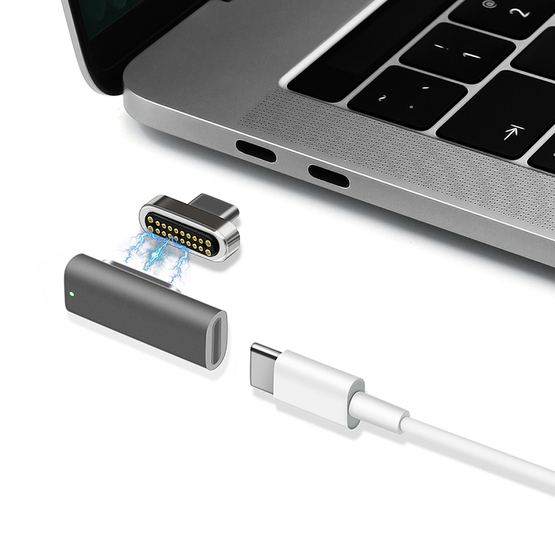 Magnetic USB Type C Adapter USB 3 1 Right Angle 10 Gb s PD 100W Quick