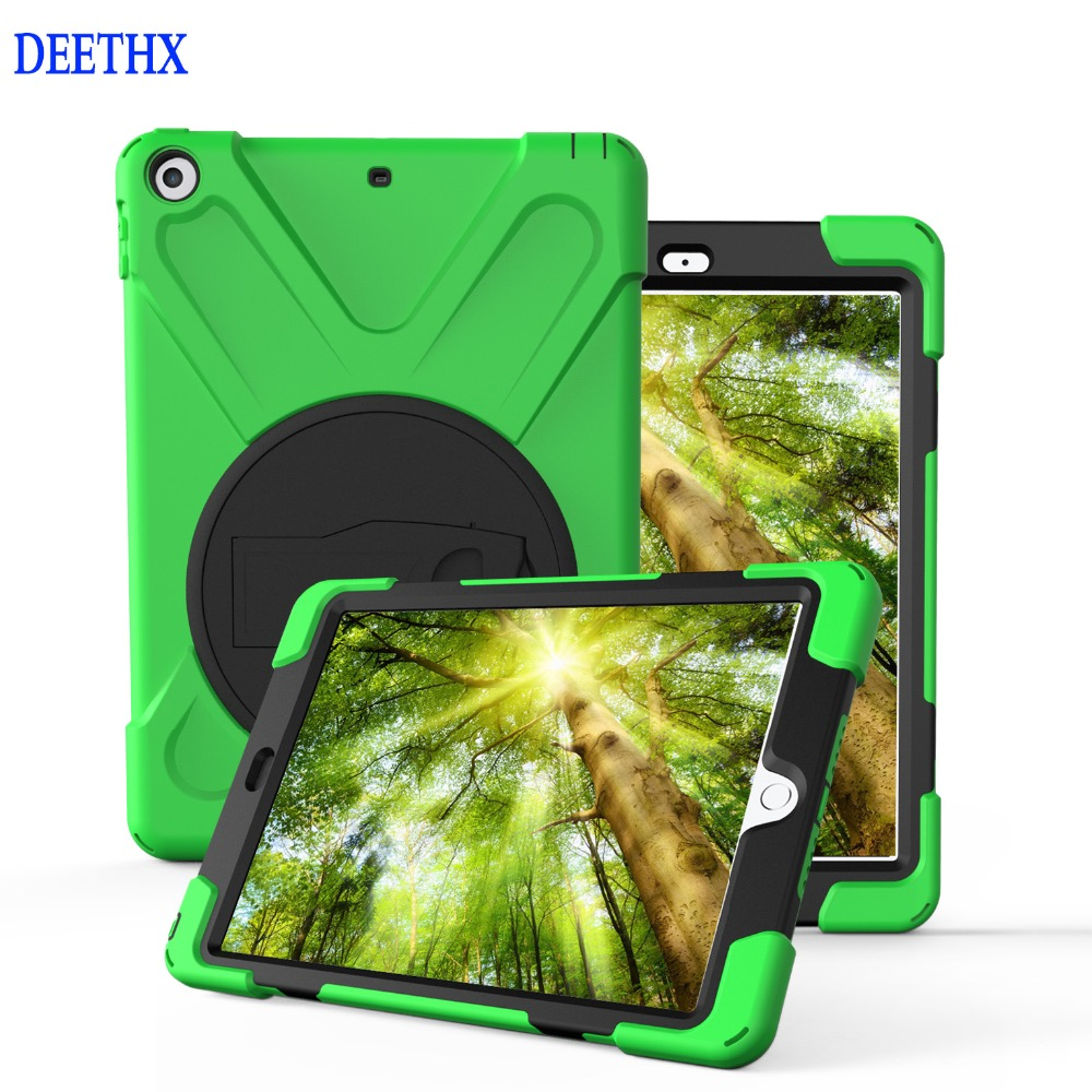 Case For New iPad 9.7 inch 2017 2018 model A1822 A1823 A1893 Duty Shockproof Hybrid Rubber Rugged Hard Protective Shell Cover case for new ipad 9 7 inch 2017 heavy duty 3 in 1 hybrid rugged durable shockproof for model a1822 alabasta