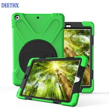 DEETHX,Tablet Case For New iPad 9.7 inch 2017 A1822 A1823,Duty Shockproof Hybrid Rubber Rugged Hard Protective Shell Cover case
