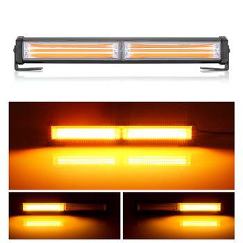цена на Car Led Emergency Warning Light Bar Car Warning Flash Strobe Light Bar Yellow Amber 9 Modes Styling Emergency Flashing Light