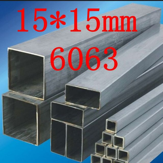 15*15mm 6063 SHS tubo cuadrado de aluminio/tubo 1000mm largo (cortadas a la medida)