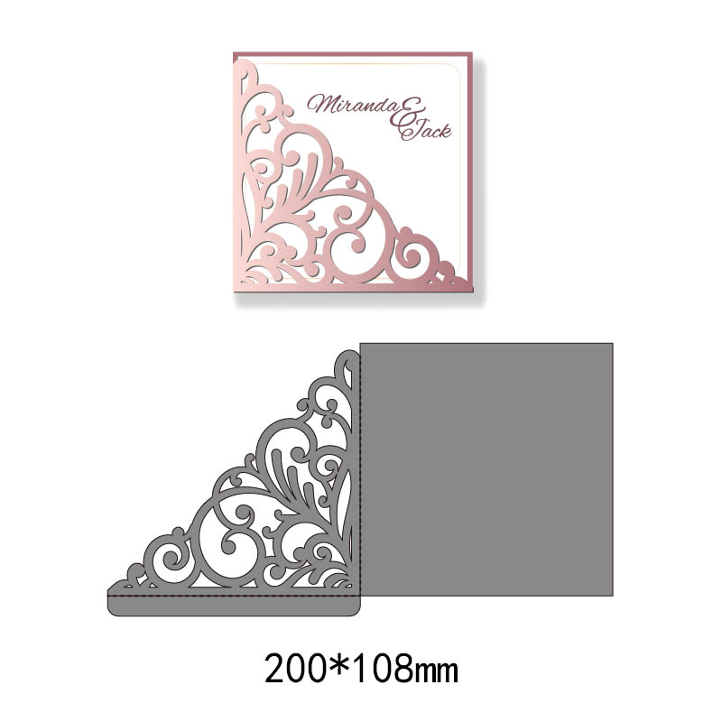 Rectangular Background Dies Cutting Decorative Scrapbooking Steel Craft Die Cut Create Stamps Embossing Paper Card Stenci Non-Ironing Scrapbooking & Stamping Arts,crafts & Sewing