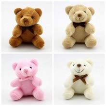 Новинка 8 см плюшевая игрушка бант милый медведь галстук плюшевая игрушка медведь кукла игрушка Подарки для детей