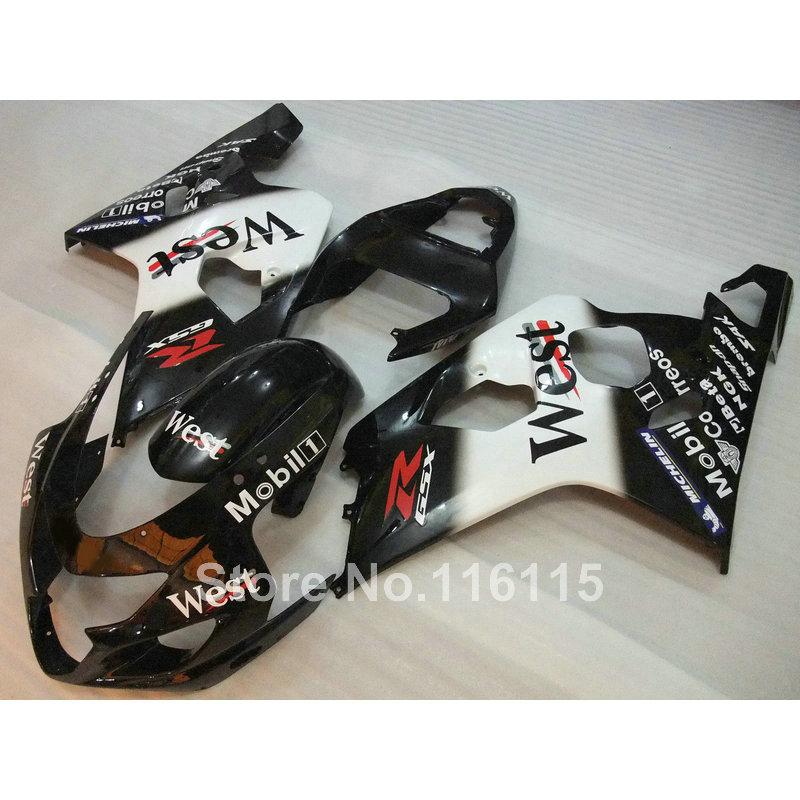 fairing kit for SUZUKI GSXR 600 750 K4 2004 2005 GSXR600 GSXR750 04 05 white black West fairings set LF40