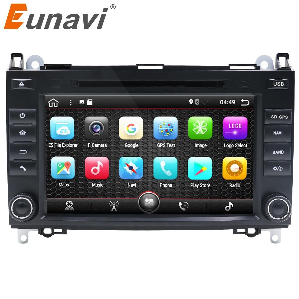 Eunavi 8'' 2 Din Quad core Android 7.1 Car DVD GPS Radio for Mercedes/Benz/Sprinter/B200/B-class/W245/B170/W209/W169 USB WIFI carmonitor player autoradio for mercedes benz b200 sprinter w209 w169 b200 a class w169 b class w245 b170 multimedia gps radiofm