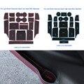 18 Pçs/set Car Styling Sulco Ranhura Pad Porta Interior Almofada De Látex Mat Anti-Slip Para Land Rover Discovery Esporte baixo/Jogo