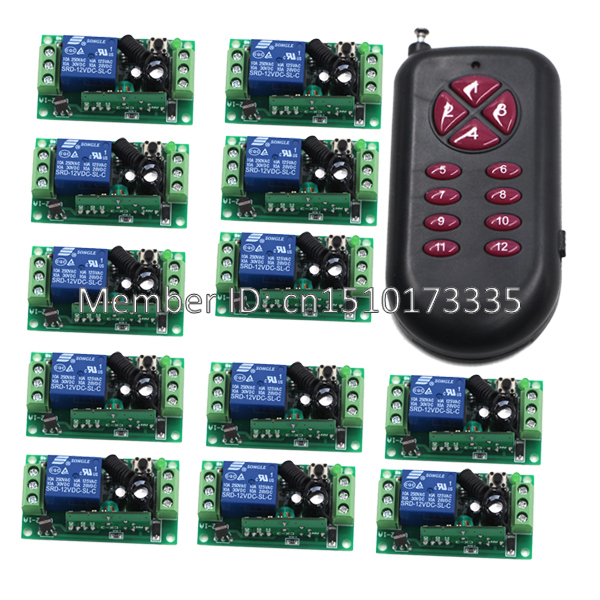 Dc12v 12ch 10a 1000m long distance range outdoor remote control dc12v 12ch 10a 1000m long distance range outdoor remote control light switch relay radio 12 receiver aloadofball Images