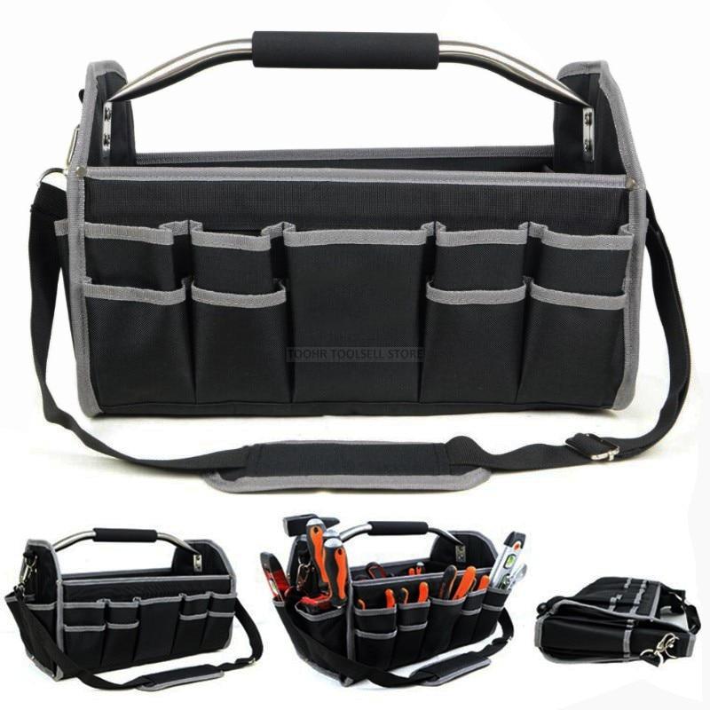41*23*27CM 600D Oxford Cloth Foldable Tool Case Bag Shoulder Portable Hand Organizer Storage Electrician Repair Tool Box