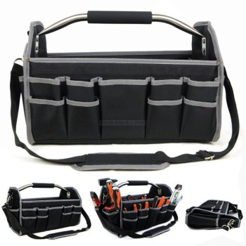 41*23*27CM 600D Oxford Cloth Foldable Tool Case Bag Shoulder Portable Hand Organizer Storage Electrician Repair Tool Box
